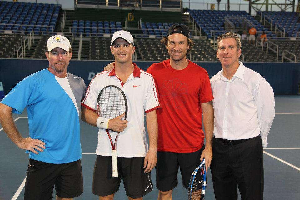 Brandon Flanagan with tennis legend, Carlos Moya