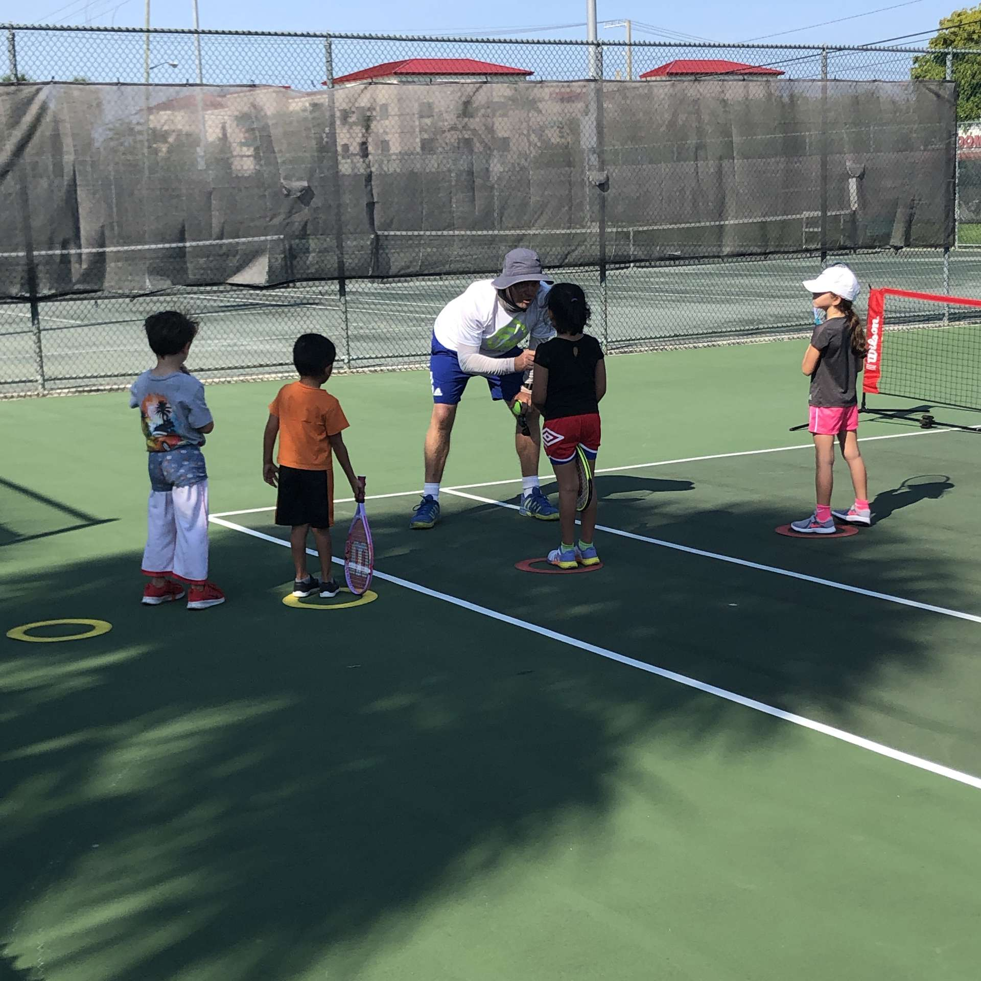 After school tennis with coach Allington Mutimer