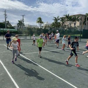 Summer tennis camp at Gulfstream