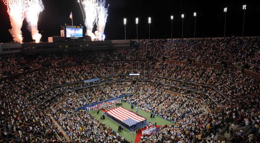 Arthur Ashe Stadium at the US Open for tennis