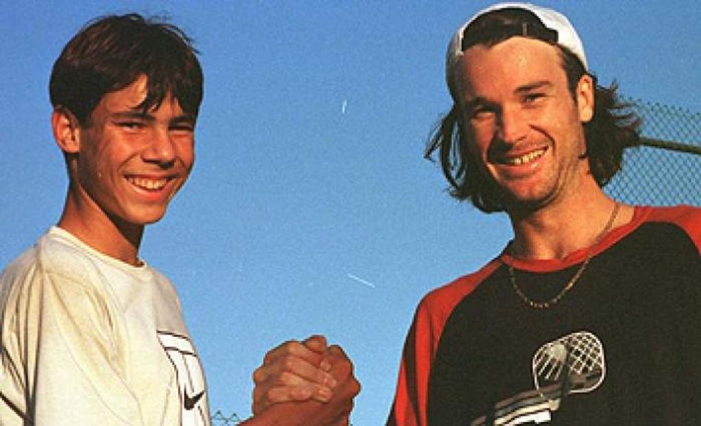 Rafael Nadal and Carlos Moya tennis