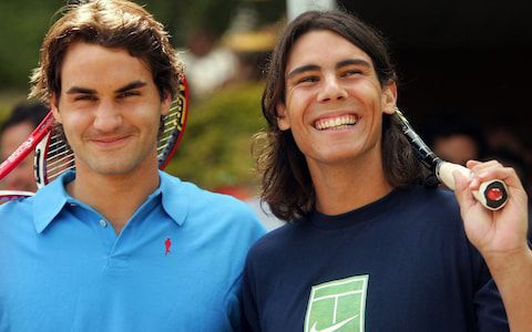 Federer and Nadal in 2005