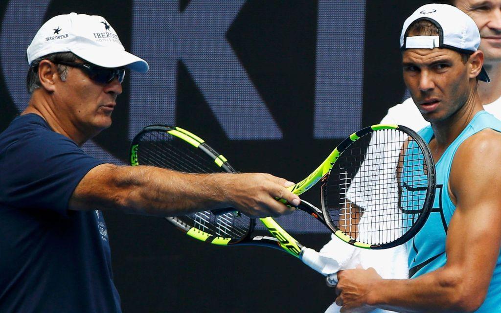 Uncle Toni Nadal and Rafael Nadal tennis player