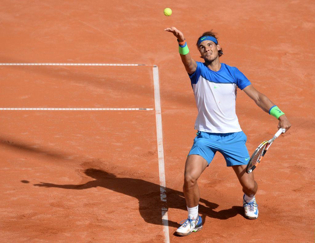 Rafael Nadal French Open tennis serve